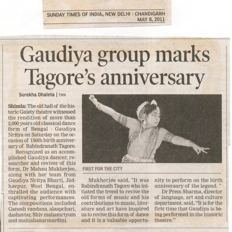TIMES OF INDIA-8-05-11